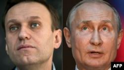 Алексей Навалний (аз чап) ва Владимир Путин
