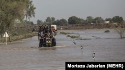 Floods in Khuzestan in January. Iran has been suffering from drought for several years.