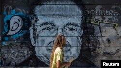 Grafiti sa likom Robina Williamsa u Beogradu