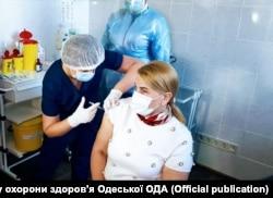 Вакцинація в Одесі, березень 2021 року