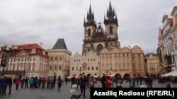 Прагадағы алаңдардың бірі, Чехия (Көрнекі сурет).