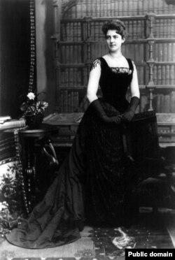 Фрэнсис Кливленд, жена президента Гровера Кливленда. Автор фото неизвестен. 1886