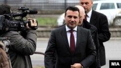 """Премиерот Зоран Заев пред Основен суд Скопје 1, на судење за случајот """"Поткуп"""""""