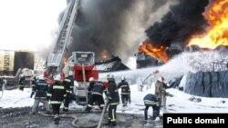 Пожежа на нафтобазі під Києвом, 10 червня 2015 року