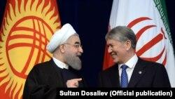 Өткөн жылы президент Алмазбек Атамбаев менен Иран президенти Хасан Роухани Бишкекте жолуккан
