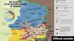 Карта военной операции, называемой украинскими властями антитеррористической.