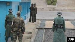 دیدار در روستایی در منطقه حائل مرزی بین دو کره انجام شده است
