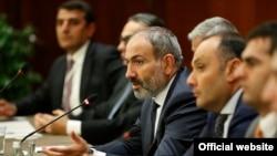 Премьер-министр Армении Никол Пашинян на встрече с армянскими бизнесменами России в Москве, 8 сентября 2018 года.