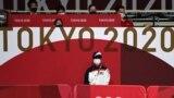 Токио олимпиадасында үстел теннисі өтіп жатқан кешен. 23 шілде 2021 жыл.