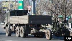 Артилерія сепаратистів у Донецьку, архівне фото