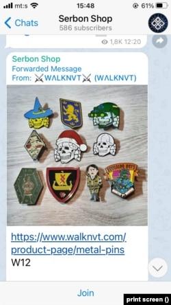 """""""Serbon"""" na svom Telegram kanalu reklamira i proizvode međunarodne neonacističke prodavnice WALKNVT"""