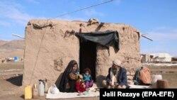 یک فامیل بیجا شده داخلی در ولایت هرات. January 22, 2020