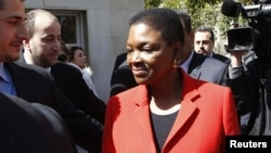Валери Амос во Дамаск
