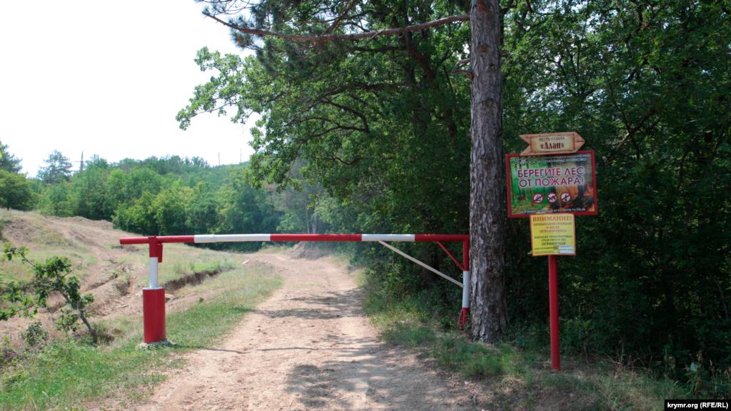 Дорога з Щебетівки до місцевого джерела. Лісники стежать за тим, щоб ніхто чужий не заїжджав на охоронювану територію