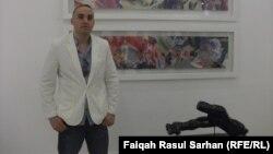 """الفنان شيبان أحمد في معرضه """"مابعد الجنة"""""""