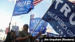 Manifestație a suporterilor președintelui Donald Trump după ce s-a anunțat, pe 7 noiembrie, victoria democratului Joe Biden în alegerile prezidențiale 2020.
