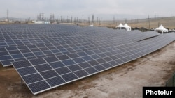 Armenia - A newly constructed solar power plant in Talin, 7Nov2017.