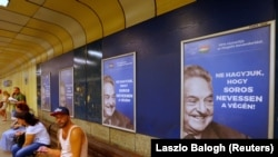 Poster mađarske vlade koji negativno prikazuje Džordža Soroša
