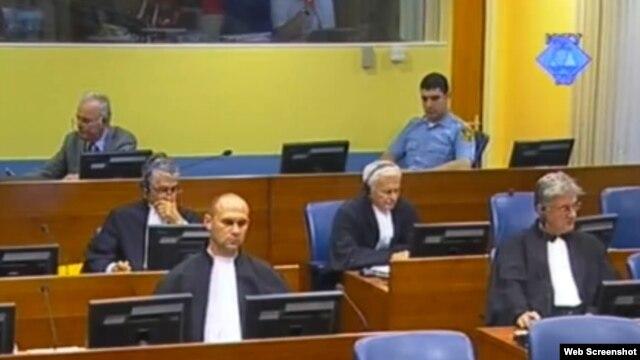 Ratko Mladić tijekom svjedočenja Evledina Pašića, 10. srpanj 2012.