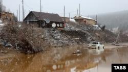 Красноярск өлкесінде апат болған орын. Ресей, 19 қазан 2019 жыл.
