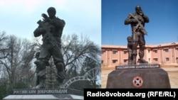 Пам'ятник «російським добровольцям» у Луганську ідентичний тому, що поставили в Сирії на честь бійців ПВК «Вагнер»