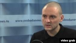"""Мухолифатдаги """"Сўл жабҳа"""" мувофиқлаштирувчиси Сергей Удальцов."""