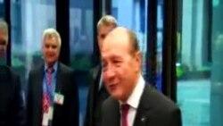 Scurta declarație a președintelui Traian Băsescu pentru ziariștii români acreditați al Bruxelles