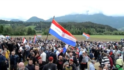 Austria, Bleiburg, 70 years after the massacre of Croats in Bleiburg field, Bleiburg 2015.