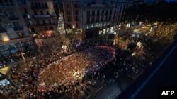 Барселондағы терроризмге қарсы акция. Испания, 26 тамыз 2017 жыл.
