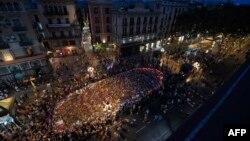 Акция против терроризма в Барселоне, Испания. 26 августа 2017 года.