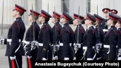Церемонія випуску в Royal Military Academy Sandhurst, грудень 2018 року (із особистого архіву Анастасії Бугайчук)