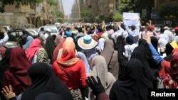 Акция в поддержку свергнутого президента Мурси в Египте. Архивное фото
