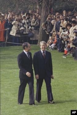 با جیمی کارتر در واشنگتن در پاییز ۱۹۷۷