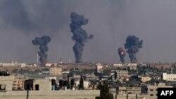 تصویری از رفح در جنوب غزه پیش از حملات نیمهشب دوشنبه