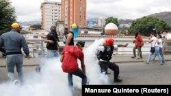 Николас Мадуро билігіне қарсы шеруге шыққандар. Каракас, 23 қаңтар 2019 жыл.