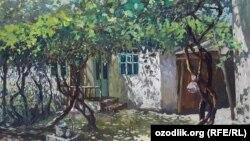 Работа художницы Дилором Мамедовой