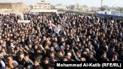 مشهد من تظاهرات الموصل