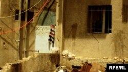 نفايات مهملة في احد احياء بغداد