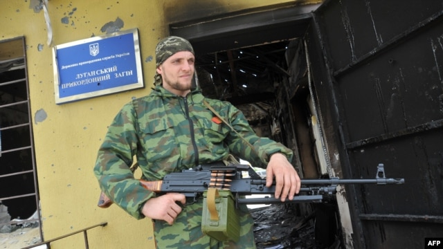 Local police have shown no intention of opposing pro-Russian militants in Luhansk.