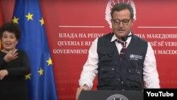 Советник на регионалниот директор на СЗО Европа Фабио Скано.