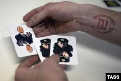 Набор сувенирных игральных карт в магазине в Москве. 2014 год