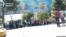 Самарқан Ислам Каримовтің жаназасына әзірленіп жатыр. 2 қыркүйек 2016 жыл.