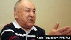 Оппозициялық Қазақстан коммунистік партиясының жетекшісі Ғазиз Алдамжаров. Алматы, 27 наурыз 2012 жыл.