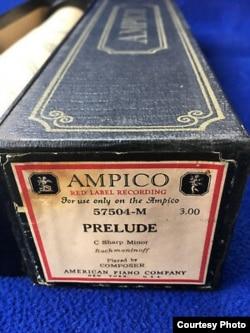 Ленту с записью прелюдии в исполнении Рахманинова до сих пор можно недорого купить на eBay. Правда, к ней придется купить и механическое пианино фирмы Ampico