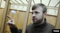 Бывший мэр Ярославля Евгений Урлашов, обвиняемый в получении взятки в особо крупном размере