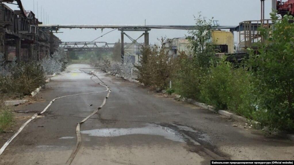 """Территория предприятия """"Усольехимпром"""" в Приангарье"""