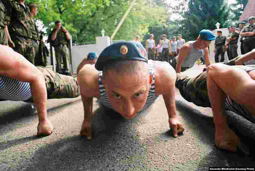 Some things -- like push-ups -- are the same in armies around the world.