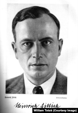Heinrich Zillich (Foto din Norbert Langer, Die deutsche Dichtung seit dem Weltkrieg, Leipzig, f.a., p.112A)