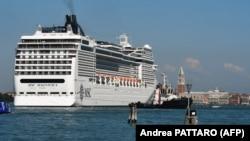 Nava MSC Magnifica după incident, 2 iunie 2019