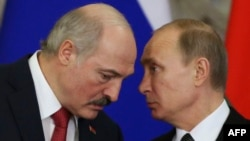 Президенти Білорусі Олександр Лукашенко та Росії Володимир Путін (архівне фото)